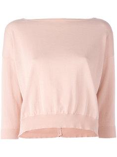 свитер с укороченными рукавами Roberto Collina
