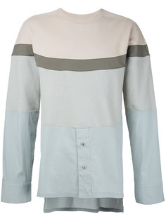colour block shirt panel sweatshirt General Idea