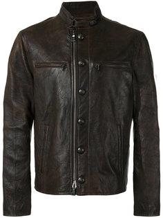кожаная куртка на пуговицах John Varvatos
