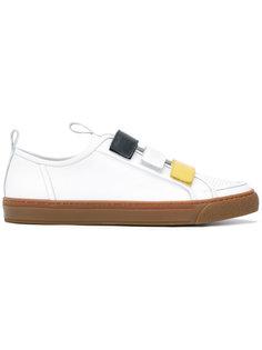 tri-colour strapped sneakers Sunnei