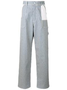 wide leg striped trousers  Diesel Black Gold