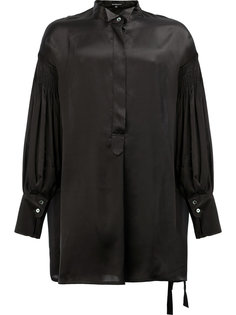 рубашка с плиссированными рукавами Ann Demeulemeester
