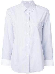 рубашка в полоску с нагрудным карманом Jil Sander