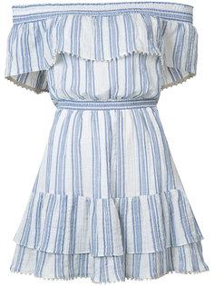 off shoulder striped dress  Love Shack Fancy