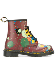 floral print boots  Dr. Martens