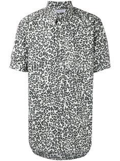 рубашка с леопардовым принтом Alexander McQueen