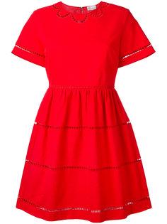 платье с вырезными деталями Red Valentino