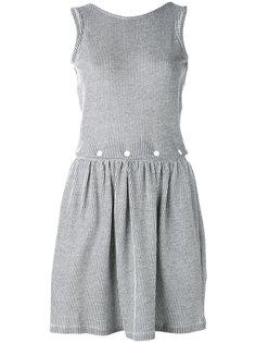 плиссированное платье в полоску Maison Kitsuné