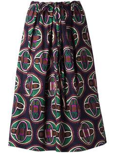 юбка с геометрическим принтом Aspesi