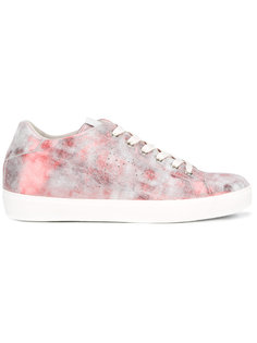 marbled effect sneakers Leather Crown