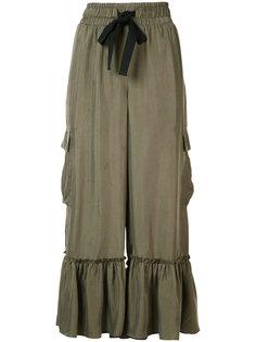укороченные брюки с оборками Cinq A Sept