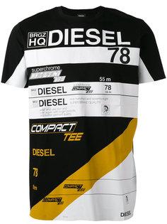 футболка с принтом с логотипом Diesel