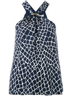 блузка с лямкой на шее Michael Kors
