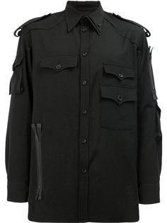 рубашка с накладными карманами Yohji Yamamoto