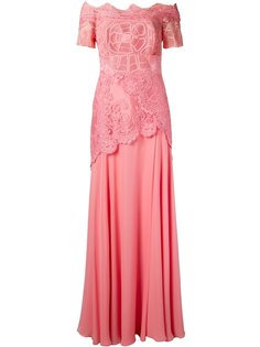 off the shoulder lace Patricia gown Martha Medeiros