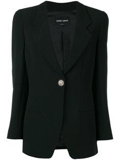 пиджак с застежкой на одну пуговицу Giorgio Armani