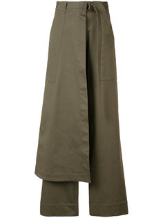 брюки с запахом Josh Goot