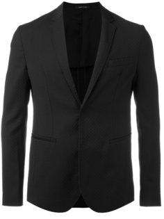 пиджак с потайной застежкой Emporio Armani