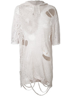 distressed knit T-shirt  Maison Mihara Yasuhiro