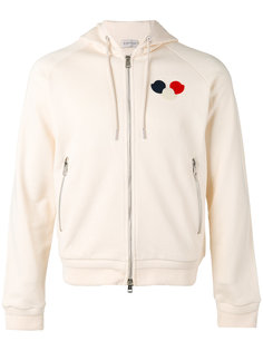 logo patch zipped hoodie  Moncler