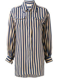 striped long sleeve shirt Fendi