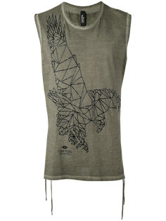 eagle print sleeveless T-shirt Tom Rebl