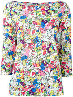 rubbish print shirt Ultràchic