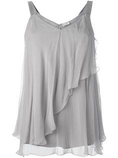 блузка шифт с рюшами Brunello Cucinelli
