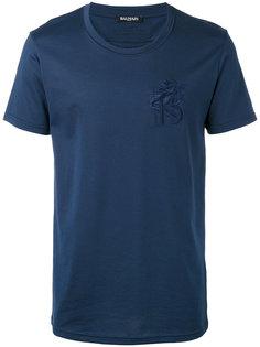 футболка с вышивкой льва Balmain