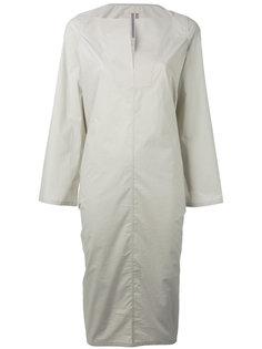 платье миди с разрезом на горловине Rick Owens