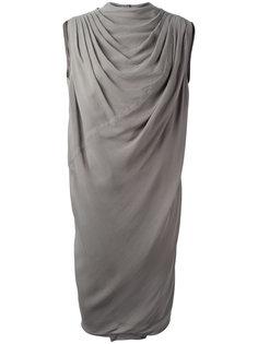 драпированное платье Claudette  Rick Owens