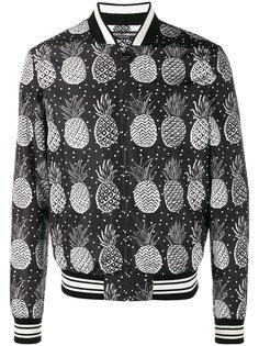 куртка-бомбер с рисунком из ананасов Dolce & Gabbana