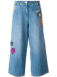 укороченные джинсы с нашивками Kenzo