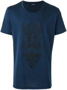 футболка с тотемным принтом Balmain