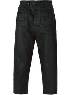 укороченные вощеные джинсы Rick Owens DRKSHDW