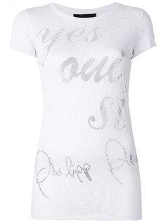 декорированная футболка  Philipp Plein
