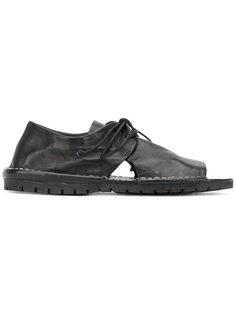 туфли на шнуровке с вырезами  Marsèll