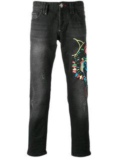 embroidered jeans Philipp Plein