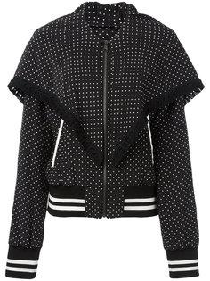 куртка-бомбер  с узором в горох и бахромой Dolce & Gabbana