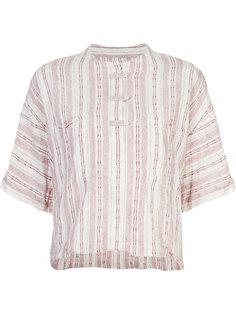 collarless striped henley shirt Derek Lam 10 Crosby