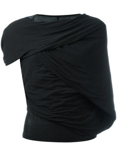 футболка с асимметричными рукавами Rick Owens