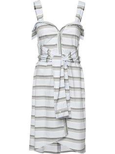 полосатое платье с завязками на талии Derek Lam 10 Crosby