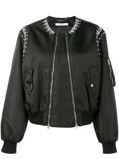 куртка-бомбер  декорированная кристаллами Givenchy