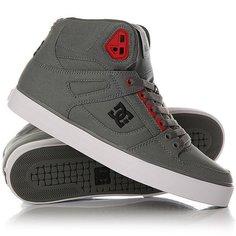 Кеды кроссовки высокие DC Spartan High Wc Grey/Black/Red