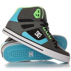 Кеды кроссовки высокие DC Spartan High Wc Grey/Green/Blue