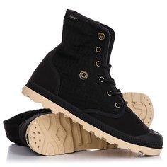 Ботинки высокие женские Palladium Baggy Low Lp Black/Almond Buff