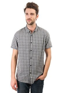 Рубашка в клетку Quiksilver The Linen Check Stone Linen