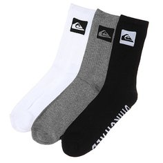 Носки средние Quiksilver 3 Pack Crew Assorted