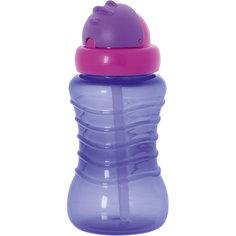 Поильник-непроливайка с соломинкой, 310 мл, Kurnosiki, фиолетовый Курносики