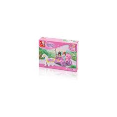 """Конструктор """"Розовая мечта: Карета принцессы"""", 99 деталей, Sluban"""